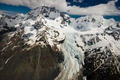Berge und Gletscher Neuseeland stockfotos