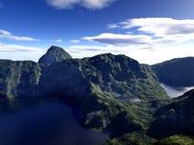 Berge und Himmel. Stockfoto