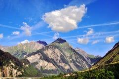Berge und Himmel Stockfotos
