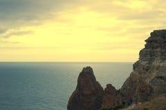 Berge und Seelandschaft Stockfotografie