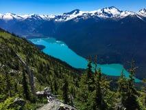 Berge und Seen sehen vom Pfeifer-Berg an lizenzfreies stockfoto