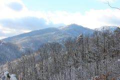 Berge und Täler Stockfoto
