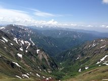 Berge und Täler Lizenzfreies Stockbild