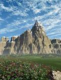Berge und Wildflowers Stockfotos