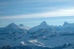 Berge und Wolken stockbild