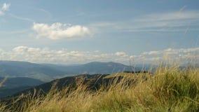 Berge und Wolken, Wind stock video