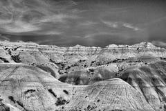 Berge in Utah - Schwarzweiss lizenzfreie stockfotografie