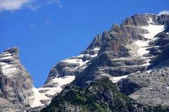Berge von Dolomiti di Brenta, Trentino, Italien Stockbild