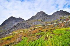Berge von Hà Giang Vietnam Lizenzfreie Stockbilder