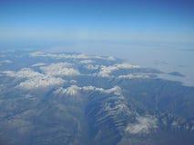 Berge von oben stockfotografie