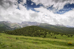 Berge von Süd-Kirgisistan Stockfotos