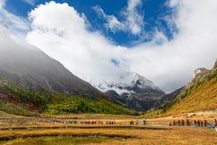 Berge in Yading, China Stockfotografie