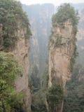Berge in Zhanjiajie Stockfoto