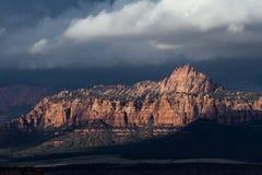 Berge in Zion NP, Utah Lizenzfreies Stockbild