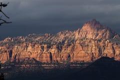 Berge in Zion NP, Utah Lizenzfreie Stockfotografie