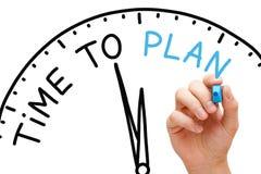 Zeit zu planen Lizenzfreies Stockbild