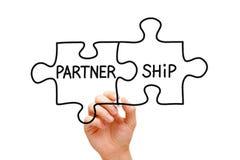 Partnerschafts-Puzzlespiel-Konzept Lizenzfreie Stockfotografie