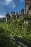 Bergechinas Hunan westliche berühmte zhangjiajie-Zehn-Meile Galerie Lizenzfreies Stockfoto