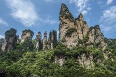 Bergechinas Hunan westliche berühmte zhangjiajie-Zehn-Meile Galerie Stockfotografie