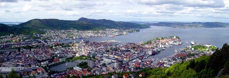 Bergen. Panorama view of Bergen, Norway Royalty Free Stock Image