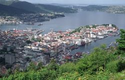 Bergen Foto de Stock Royalty Free