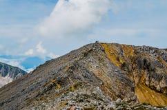 Bergen, aard, top, toerisme Royalty-vrije Stock Afbeelding