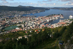 Bergen from above royalty free stock images