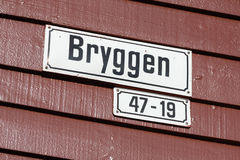 Bergen Address Plate Royalty Free Stock Images