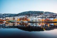 Bergen al Natale Immagine Stock