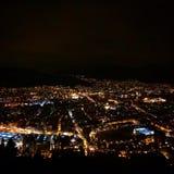 Bergen alla notte Immagine Stock