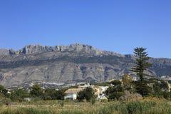 Bergen Altea Spanje Stock Afbeelding