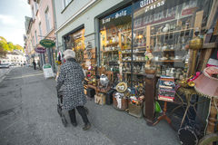 Bergen antique shop Royalty Free Stock Images