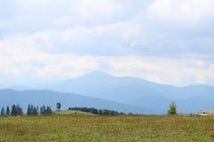 Bergen av Carpathiansna är inte så höga utan mycket majestätiska, och vatten är liv i dessa berg royaltyfri bild