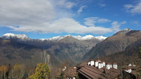 Bergen av det nordliga Kaukasuset Royaltyfria Foton