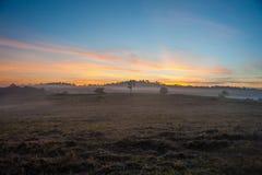Bergen bij zonsondergang Royalty-vrije Stock Foto