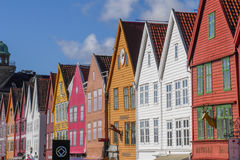 Bergen- Bryggen. The coulourful houses of Bryggen in Bergen Royalty Free Stock Photos