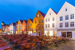 Bergen Bryggen at Night Royalty Free Stock Photo