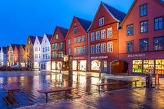 Bergen Bryggen at Night Royalty Free Stock Photography