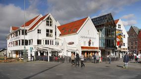 Bergen Bryggen Waterfront, Norway Royalty Free Stock Images