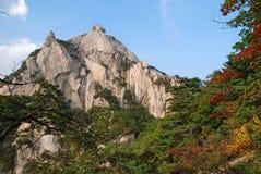 Bergen Bukhansan in Seoel Stock Afbeeldingen