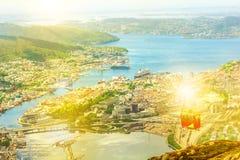 Bergen Cable Car Arkivbild