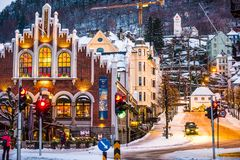 Bergen at Christmas Royalty Free Stock Photography