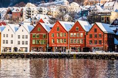 Bergen at Christmas Royalty Free Stock Image