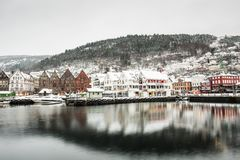Bergen at Christmas Stock Images