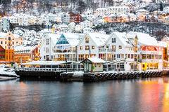 Bergen at Christmas Stock Photography