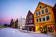 Bergen at Christmas Stock Image