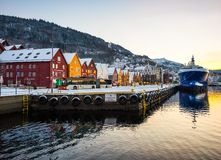 Bergen at Christmas Royalty Free Stock Photo