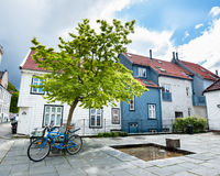 Bergen city. One of the many beautiful streets of Bergen city in Norway Stock Photography