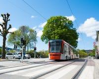 Bergen city. A train in Bergen city in Norway Stock Image
