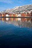 Bergen City. Beautiful Bergen city at winter Royalty Free Stock Images